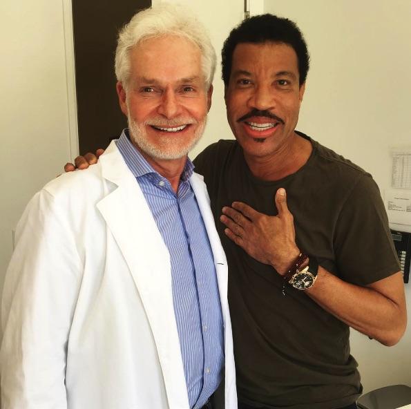 Lionel Richie and Dr. Harold Lancer
