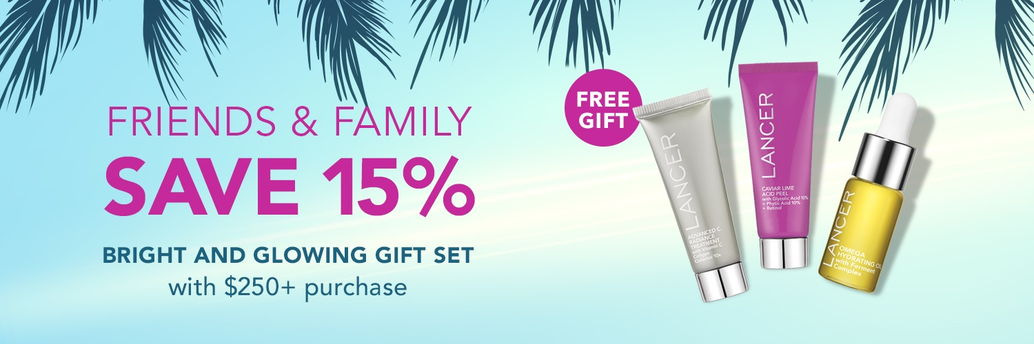 Lancer Friends and Family 3-Piece Bright & Glowing Gift Set With Purchase